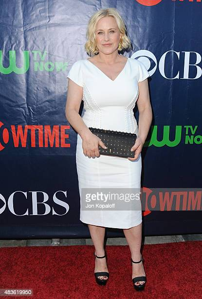 Actress Patricia Arquette arrives at CBS, CW And Showtime 2015 Summer TCA Party at Pacific Design Center on August 10, 2015 in West Hollywood,...
