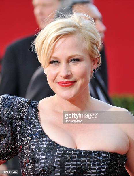 Actress Patricia Arquette arrives at the 61st Primetime Emmy Awards held at the Nokia Theatre LA Live on September 20 2009 in Los Angeles California