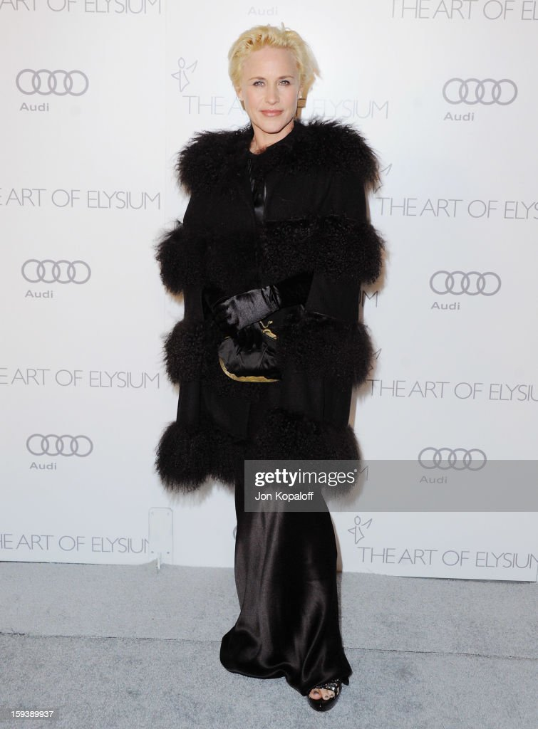 Actress Patricia Arquette arrives at the Art Of Elysium's 6th Annual Heaven Gala on January 12, 2013 in Los Angeles, California.