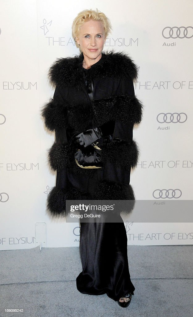 Actress Patricia Arquette arrives at The Art of Elysium's Heaven Gala at 2nd Street Tunnel on January 12, 2013 in Los Angeles, California.
