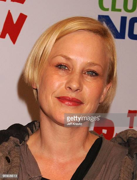 Actress Patricia Arquette arrives at The Peewee Herman Show Los Angeles Opening Night at Club Nokia on January 20 2010 in Los Angeles California