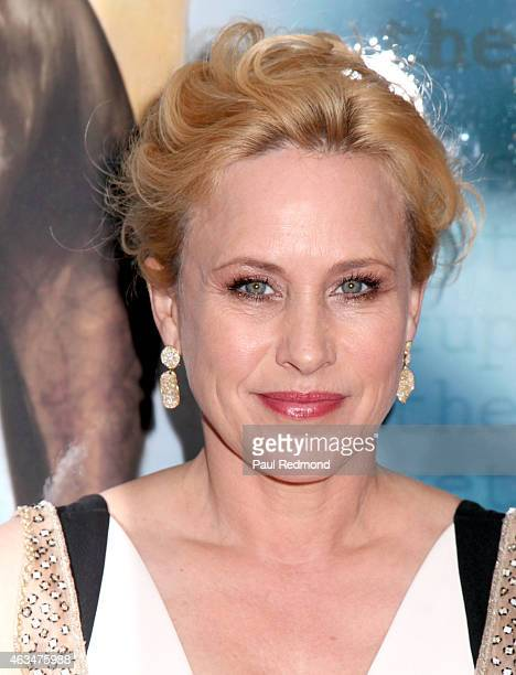 Actress Patricia Arquette attends the 2015 Writers Guild Awards LA Ceremony at the Hyatt Regency Century Plaza on February 14 2015 in Los Angeles...