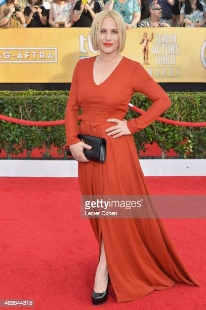 Actress Patricia Arquette attends the 20th Annual Screen Actors Guild Awards at The Shrine Auditorium on January 18 2014 in Los Angeles California