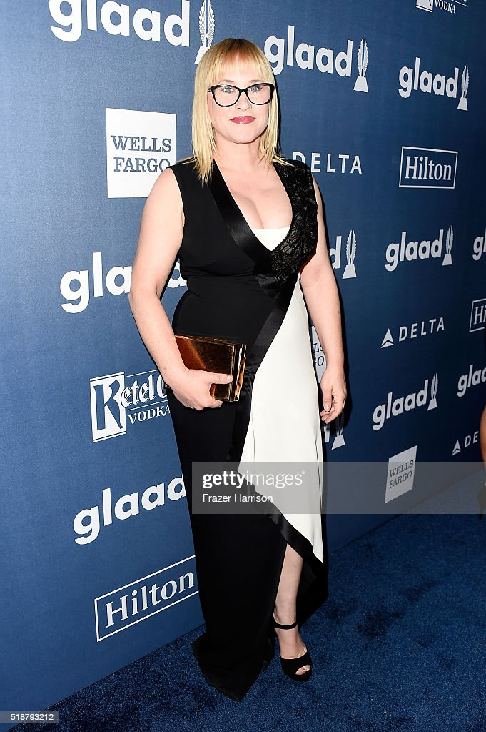 Actress Patricia Arquette attends the 27th Annual GLAAD Media Awards at the Beverly Hilton Hotel on April 2, 2016 in Beverly Hills, California.