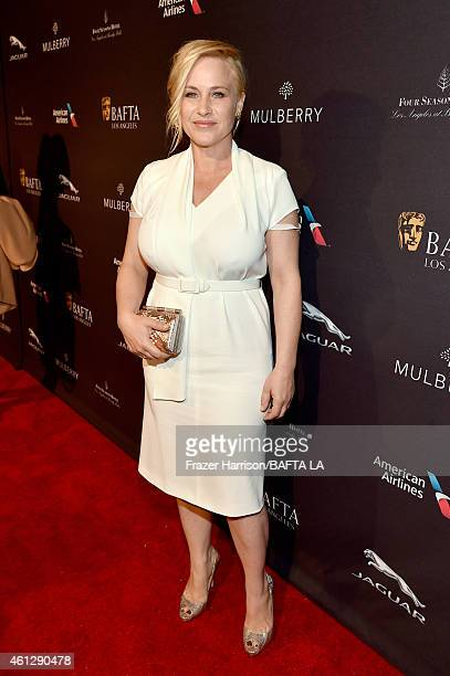 Actress Patricia Arquette attends the BAFTA Los Angeles Tea Party at The Four Seasons Hotel Los Angeles At Beverly Hills on January 10 2015 in...