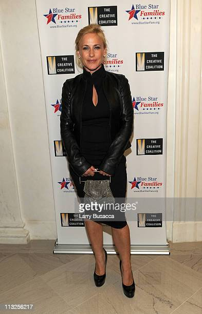 Actress Patricia Arquette attends the Creative Coalition and Blue Star Families PSA premiere gala at American Red Cross on April 28 2011 in...