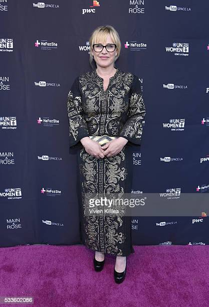 Actress Patricia Arquette attends the UN Women USNC LA Media Summit in support of #HeForShe at YouTube Space LA at YouTube Space LA on May 21 2016 in...