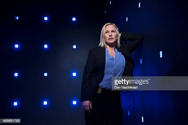 Actress Patricia Arquette is photographed for USA Today on January 30 2015 on the set of 'CSI Cyber' at CBS Radford Studios in Studio City California...