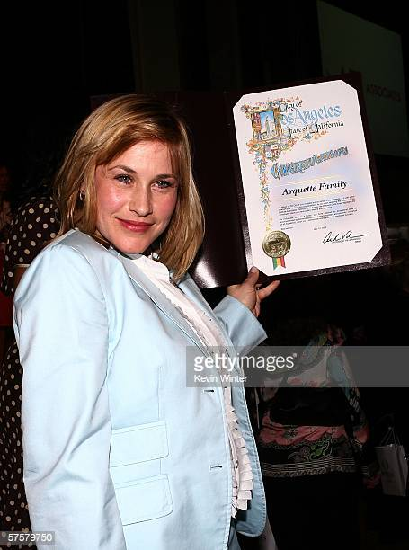 Actress Patricia Arquette poses at the AFI Associates luncheon honoring Hollywood's Arquette family with the 6th Annual Platinum Circle Award held at...