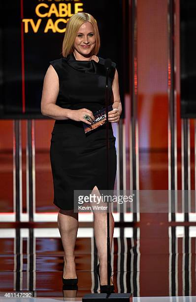 Actress Patricia Arquette speaks onstage at The 41st Annual People's Choice Awards at Nokia Theatre LA Live on January 7, 2015 in Los Angeles,...