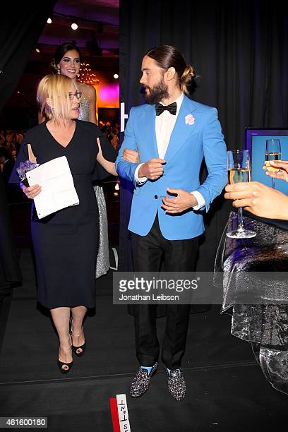 Actress Patricia Arquette, winner of Best Supporting Actress for 'Boyhood', and actor Jared Leto attend the 20th annual Critics' Choice Movie Awards...
