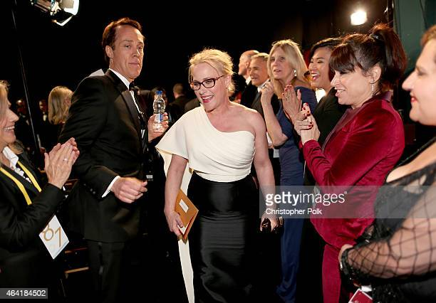 Actress Patricia Arquette, winner of the award for Best Actress in a Supporting Role for 'Boyhood', attends the 87th Annual Academy Awards at Dolby...