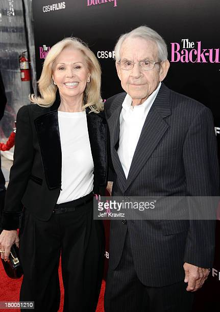 Actress Patricia Carr and actor Tom Bosley arrive at the premiere of The Backup Plan held at Regency Village Theatre on April 21 2010 in Westwood...