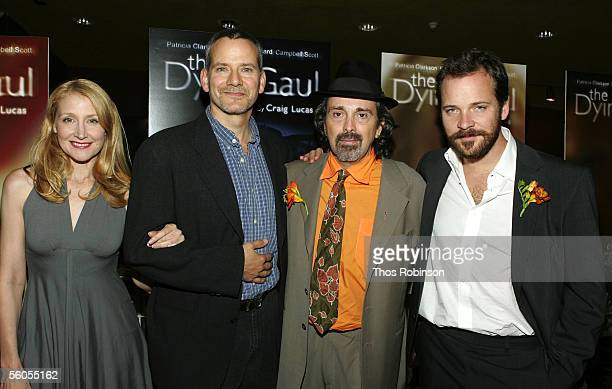 Actress Patricia Clarkson actor Campbell Scott director Craig Lucas and actor Peter Sarsgaard attend the Premiere of Holedigger Studios' The Dying...