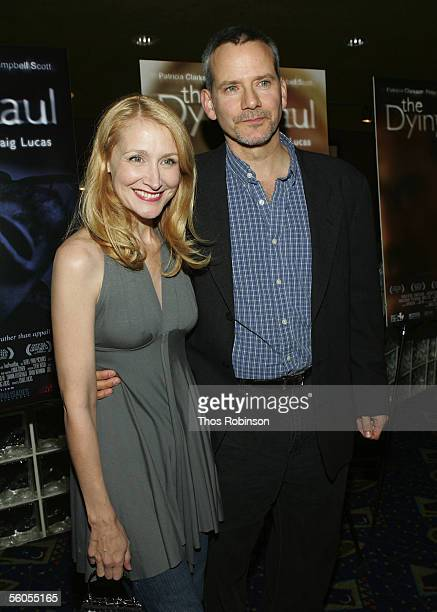 Actress Patricia Clarkson and actor Campbell Scott attend the Premiere of Holedigger Studios' The Dying Gaul at Clearview Chelsea West Cinema on...