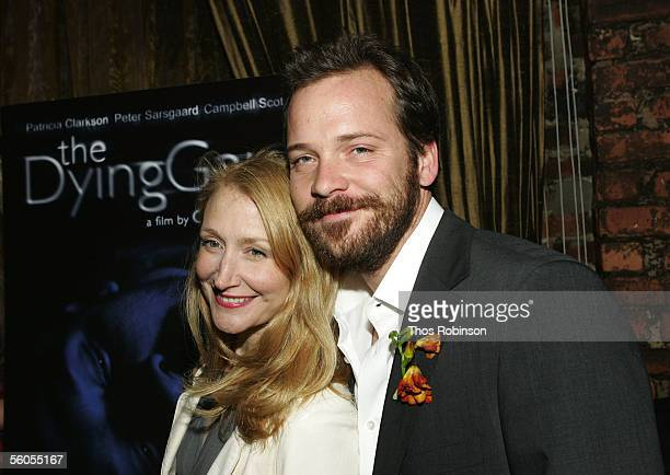 Actress Patricia Clarkson and actor Peter Sarsgaard attend the Premiere of Holedigger Studios' The Dying Gaul After Party at Canvas on November 1...