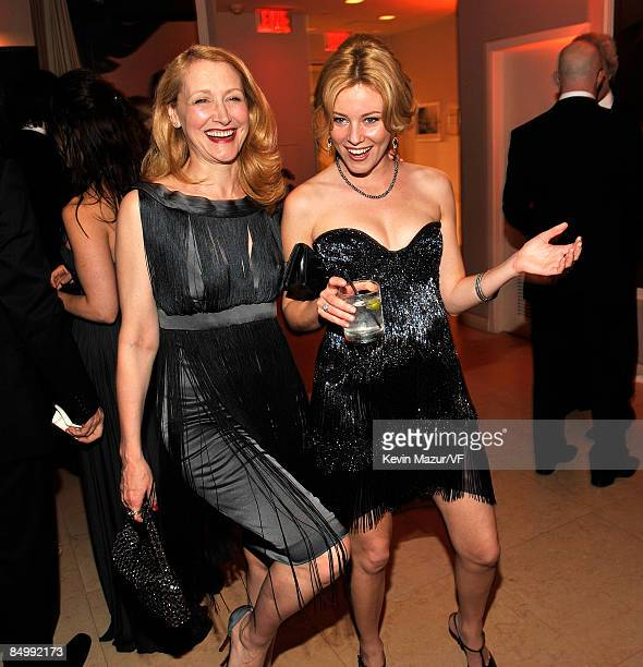 Actress Patricia Clarkson and actress Elizabeth Banks attends the 2009 Vanity Fair Oscar party hosted by Graydon Carter at the Sunset Tower Hotel on...