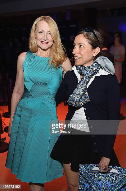 Actress Patricia Clarkson and designer Marisol Deluna attend the Housing Works' Fashion for Action 2015 at the Rubin Museum on November 19 2015 in...