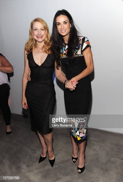 Actress Patricia Clarkson and Director Demi Moore attend the premiere of Lifetime's Five from Jennifer Aniston Demi Moore Alicia Keys at Skylight on...