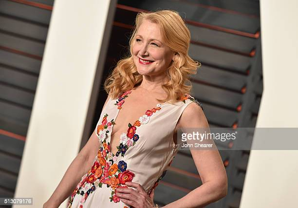 Actress Patricia Clarkson arrives at the 2016 Vanity Fair Oscar Party Hosted By Graydon Carter at Wallis Annenberg Center for the Performing Arts on...