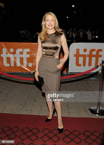 Actress Patricia Clarkson arrives at the 'A Single Man' screening during the 2009 Toronto International Film Festival held at the Isabel Bader...