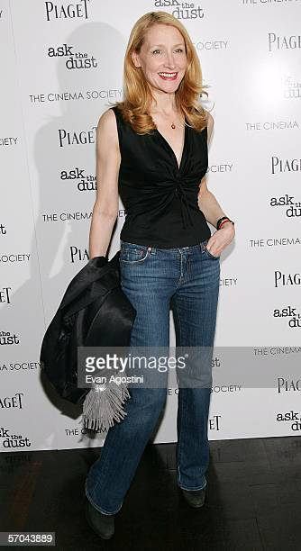 Actress Patricia Clarkson arrives at the Cinema Society and Piaget premiere of Ask The Dust held at the Tribeca Grand Hotel on March 9 2006 in New...