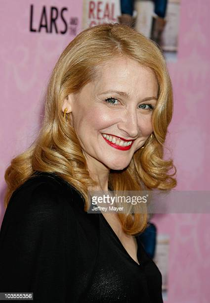 Actress Patricia Clarkson arrives at the Lars and The Real Girl Los Angeles Premiere at the Academy Theatre on October 2, 2007 in Beverly Hills,...