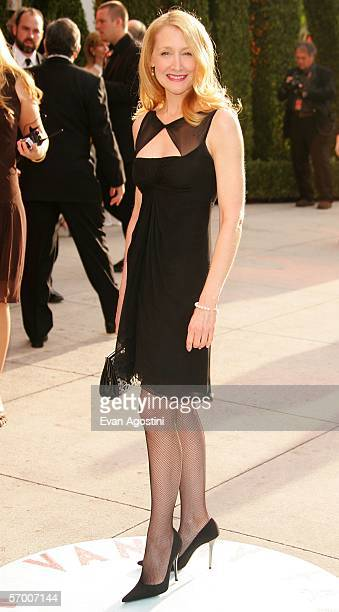 Actress Patricia Clarkson arrives at the Vanity Fair Oscar Party at Mortons on March 5 2006 in West Hollywood California