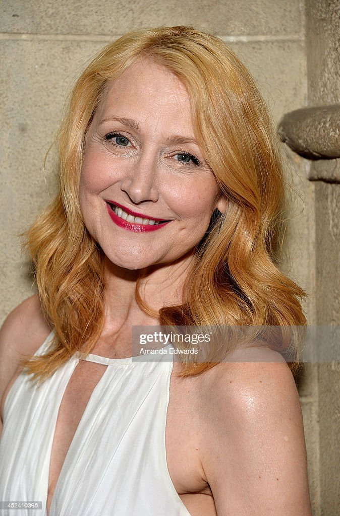 Actress Patricia Clarkson arrives at the Water's End Productions and Gran Via Productions Film 'Last Weekend' cast dinner at Chateau Marmont on July 19, 2014 in Los Angeles, California.