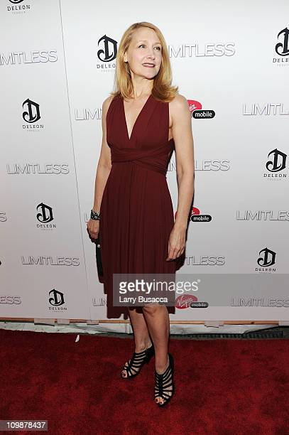 Actress Patricia Clarkson attends Relativity Media's world premiere of Limitless presented by DeLeon Tequila at Regal Union Square Theatre Stadium 14...