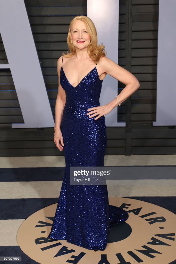 Actress Patricia Clarkson attends the 2018 Vanity Fair Oscar Party hosted by Radhika Jones at the Wallis Annenberg Center for the Performing Arts on March 4, 2018 in Beverly Hills, California.