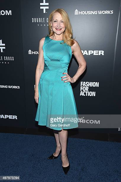 Actress Patricia Clarkson attends the Housing Works' Fashion for Action 2015 at the Rubin Museum on November 19 2015 in New York City