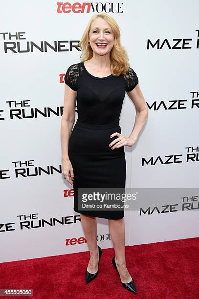 Actress Patricia Clarkson attends the 'Maze Runner' New York City screening hosted by Twentieth Century Fox and Teen Vogue at SVA Theater on...
