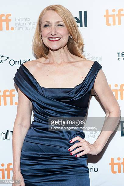 """Actress Patricia Clarkson attends the """"October Gale"""" premiere during the Toronto International Film Festival at Winter Garden Theatre on September..."""
