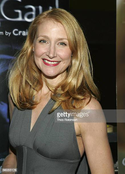 Actress Patricia Clarkson attends the Premiere of Holedigger Studios' The Dying Gaul at Clearview Chelsea West Cinema on November 1 2005 in New York...