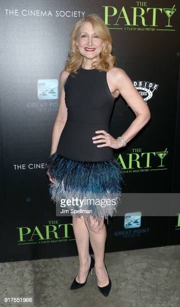 Actress Patricia Clarkson attends the screening of The Party hosted by Roadside Attractions and Great Point Media with The Cinema Society at...