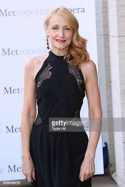 Actress Patricia Clarkson attends the season opening performace of The Marriage of Figaro at The Metropolitan Opera House on September 22 2014 in New...