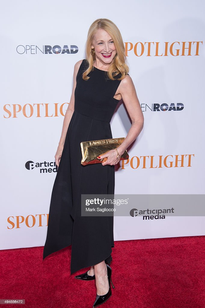 Actress Patricia Clarkson attends the 'Spotlight' New York premiere at Ziegfeld Theater on October 27, 2015 in New York City.