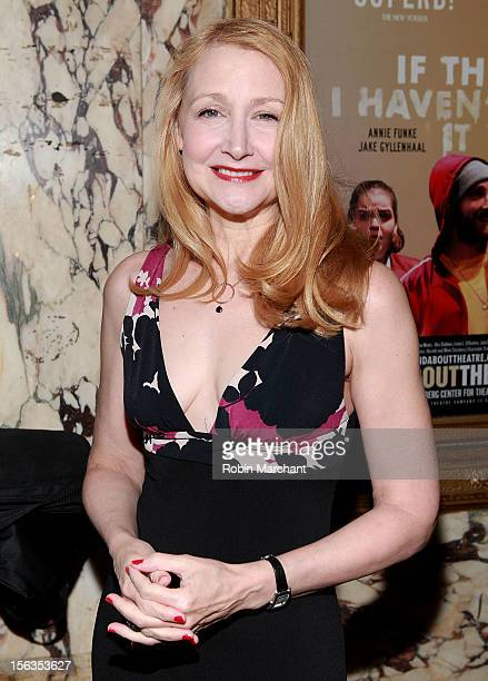 Actress Patricia Clarkson attends the 'The Mystery Of Edwin Drood' Broadway Opening Night at Roundabout Theatre Company's Studio 54 on November 13...