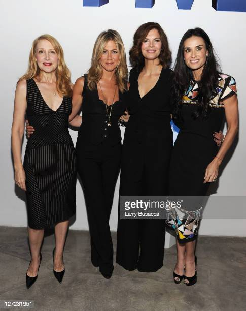 Actress Patricia Clarkson, Executive Producer and Director Jennifer Aniston, actress Jeanne Tripplehorn and Director Demi Moore attend the premiere...