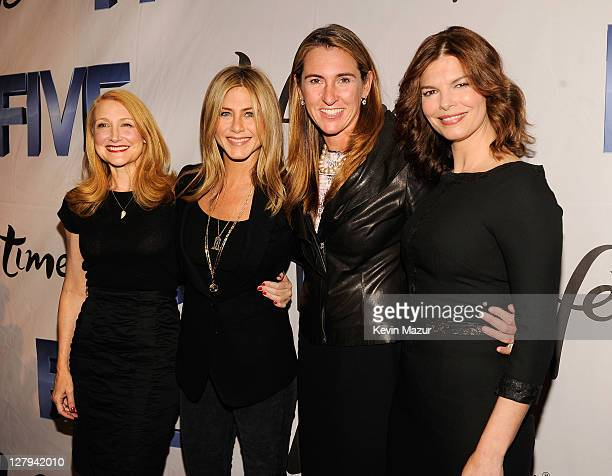 Actress Patricia Clarkson, Executive Producer and Director Jennifer Aniston, President and General Manager, History & Lifetime Nancy Dubuc and...