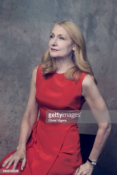 Actress Patricia Clarkson is photographed on September 10 2015 in Deauville France