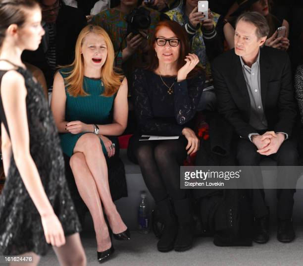 Actress Patricia Clarkson Jo Andres and actor Steve Buscemi attend the Nanette Lepore Fall 2013 fashion show during MercedesBenz Fashion Week at The...