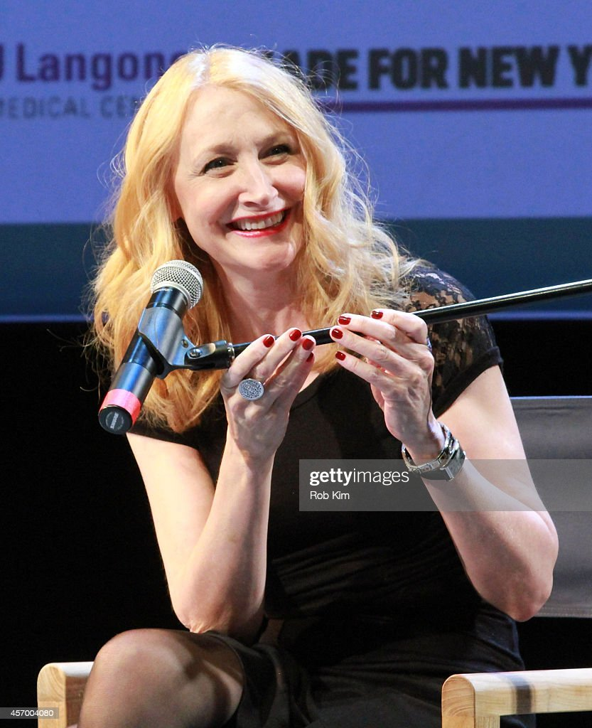 Actress Patricia Clarkson speaks during a Conversation with Patricia Clarkson during the 2014 Hamptons International Film Festival on October 10, 2014 in East Hampton, New York.