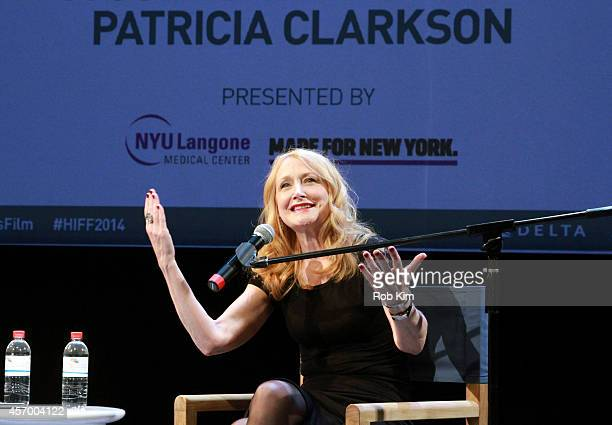 Actress Patricia Clarkson speaks during a Conversation with Patricia Clarkson during the 2014 Hamptons International Film Festival on October 10 2014...