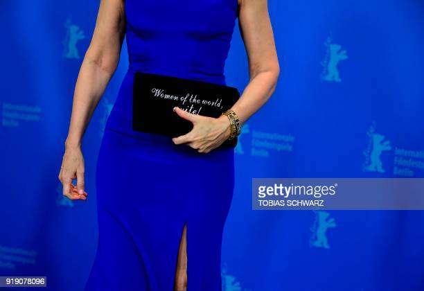 US actress Patricia Davies Clarkson poses during a photocall before a press conference to present the film The bookshop in competition in the...