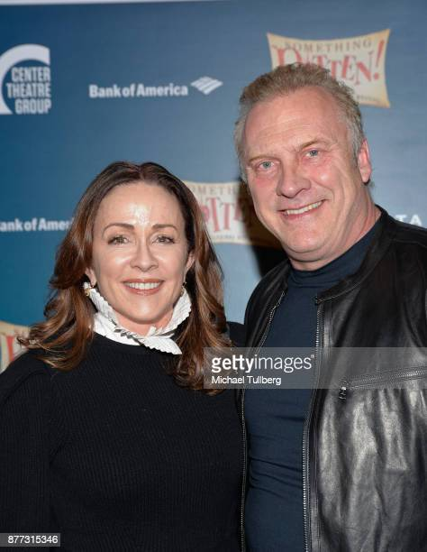 Actress Patricia Heaton and David Hunt attend the opening night of Something Rotten at Ahmanson Theatre on November 21 2017 in Los Angeles California