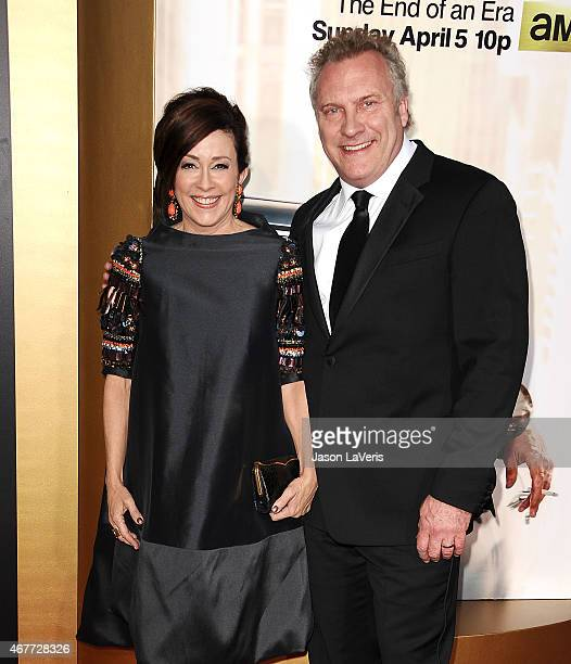 Actress Patricia Heaton and husband David Hunt attend the Mad Men Black Red Ball at Dorothy Chandler Pavilion on March 25 2015 in Los Angeles...