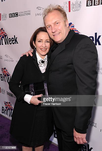 Actress Patricia Heaton David Hunt actor arrive at BritWeek's VIP launch reception of the 5th annual BritWeek at the British Consul General's...