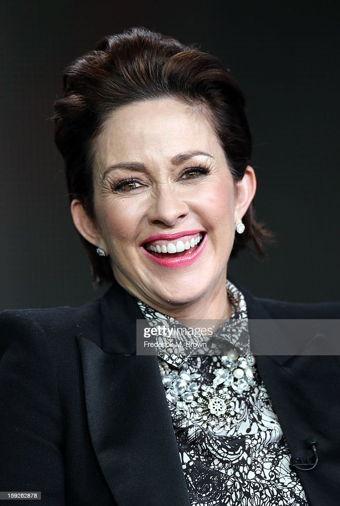 Actress Patricia Heaton of 'the middle' speaks onstage during the ABC portion of the 2013 Winter TCA Tour at Langham Hotel on January 10, 2013 in Pasadena, California.